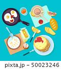 ブレックファースト 食 料理のイラスト 50023246
