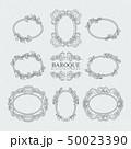 フレーム バロック様式 ベクターのイラスト 50023390