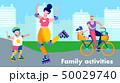 ファミリー 家庭 家族のイラスト 50029740