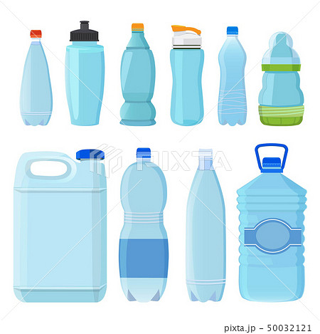 Plastic bottles for water of different types and sizes 50032121