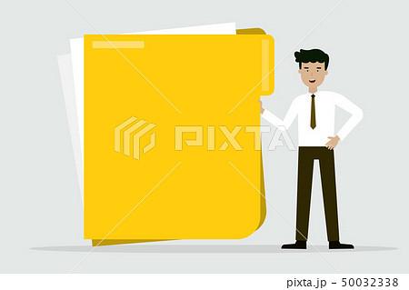 business man with big folder 50032338