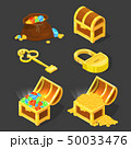 宝 宝物 財宝のイラスト 50033476
