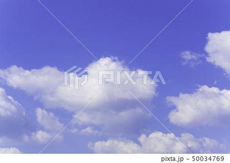 青空 空 雲 背景 背景素材 50034769