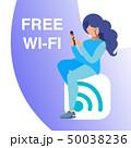 Free Wi fi Access, Hot spot Vector Banner Concept 50038236