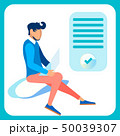 Programmer, Web Designer Flat Vector Illustration 50039307