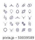 Expensive gold jewelry with diamond vector line icons and wedding accessories symbols 50039589