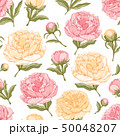Seamless Background With Peony Flowers 50048207
