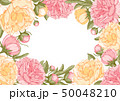 Floral Frame With Peony Flowers 50048210