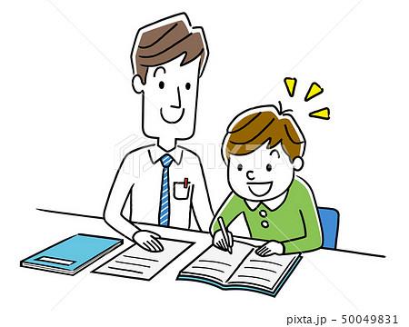 男の子に勉強を教える講師 50049831
