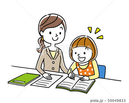 女の子に勉強を教える講師 50049833