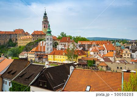 Cesky Krumlov old town in Czech Republic 50050203