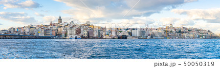 Panorama view of Istanbul city skyline in Istanbul 50050319