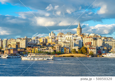 Istanbul city skyline with view of Galata Tower 50050320