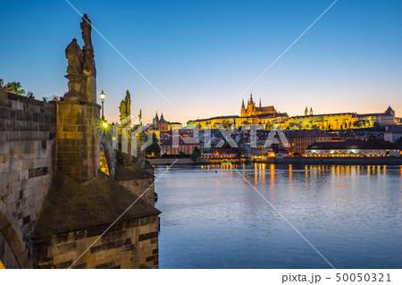 Prague city skyline in Czech Republic at night 50050321