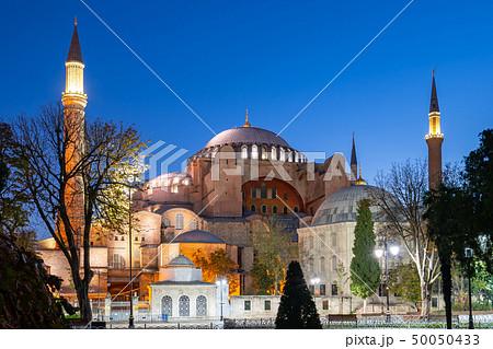 Hagia Sofia at night in Istanbul city, Turkey 50050433