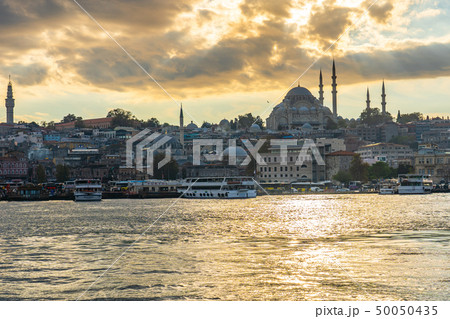 Istanbul cityscape skyline in Istanbul, Turkey 50050435