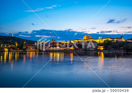 Prague old town city skyline at night in Czech 50050439