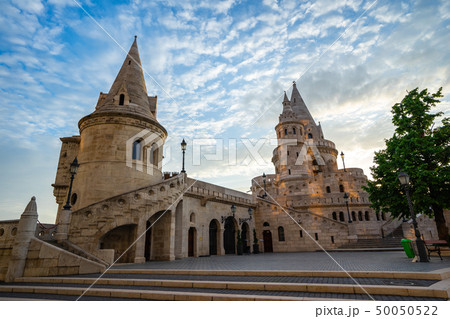 Fisherman's Bastion on the Buda bank of the Danube 50050522