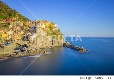 Sunset view of Manarola's Village in Italy 50051133