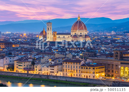 Florence Cathedral at night in Florence, Italy 50051135