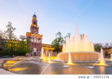 Castello Sforzesco landmark in Milan, Italy 50051136