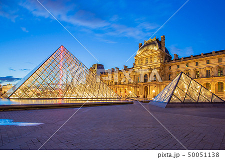 Louvre Museum in Paris at twilight in France 50051138