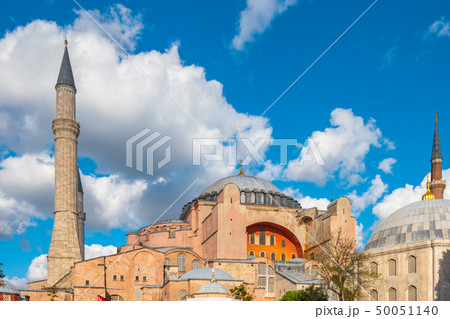 Hagia Sofia with clearly blue sky in Istanbul 50051140