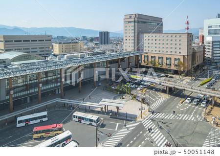 Nagano Station with city traffic in nNagano, Japan 50051148