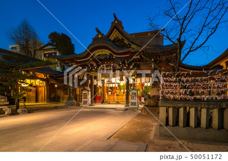Kushida Shrine at night in Hakata, Fukuoka, Japan 50051172
