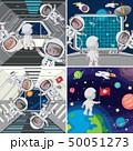宇宙飛行士 スペース 空間のイラスト 50051273