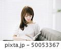 女性 アジア人 本の写真 50053367