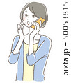女性 携帯電話 ベクターのイラスト 50053815