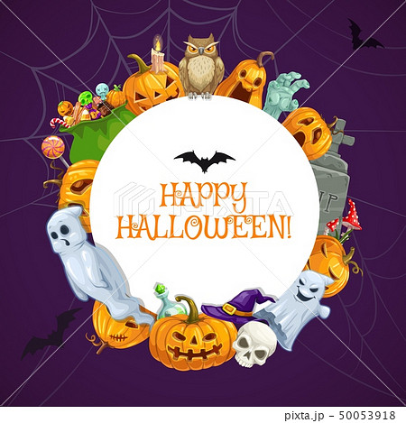 Happy Halloween, horror night holiday monsters 50053918