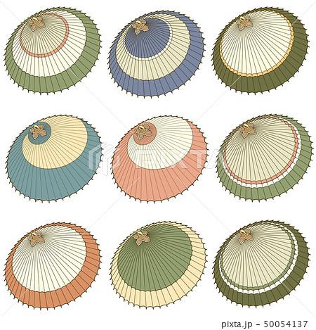 日本の伝統的な傘のイラスト, 50054137