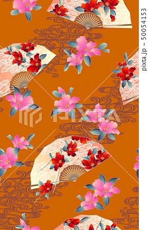 花扇子の柄, 50054153