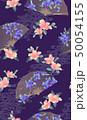 扇子 扇 花のイラスト 50054155