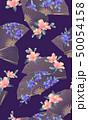 扇子 扇 花のイラスト 50054158