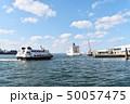 福岡市博多埠頭 外国の客船の見える港の景色 50057475