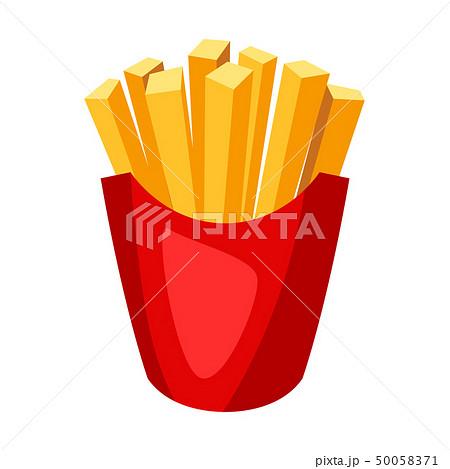 Illustration of stylized french fries. 50058371