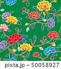 紅型 ベクター 花柄のイラスト 50058927