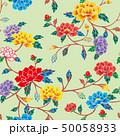 紅型 ベクター 花柄のイラスト 50058933