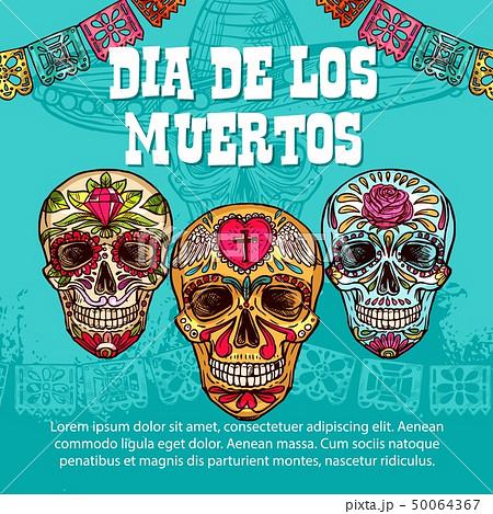 Dia de Muertos Mexican calavera skull ornament 50064367