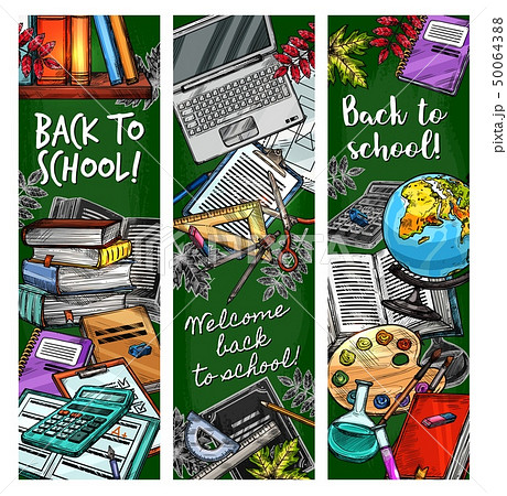Back to School student education season, sketch 50064388