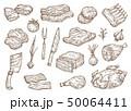 お肉 ミート 精肉のイラスト 50064411