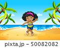 ビーチ 浜辺 まるまるのイラスト 50082082