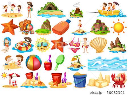 Set of beach element 50082301