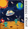 UFO 空飛ぶ円盤 場面のイラスト 50084308