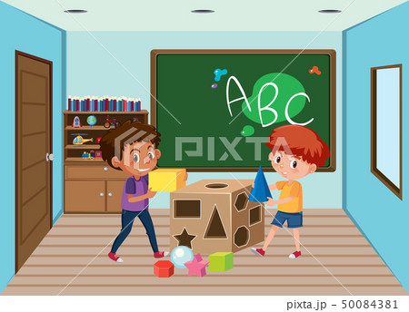 Children playing in classroom 50084381