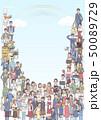 人物 女性 男性のイラスト 50089729