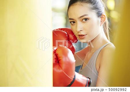 9dbdf7390404c 女性 フィットネスジムの写真素材 [50092992] - PIXTA